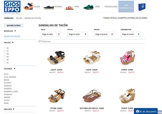 tiendas de zapatos online gioseppo