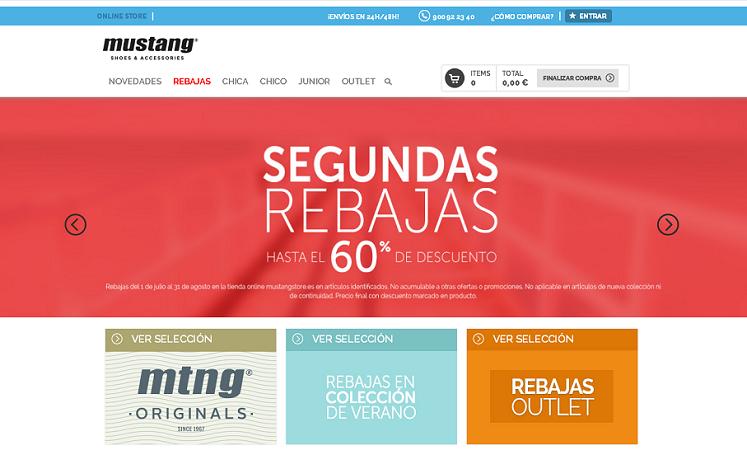 tiendas de zapatos online mustang store