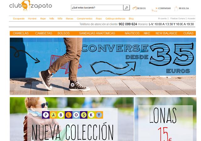 tiendas de zapatos online portada club del zapato