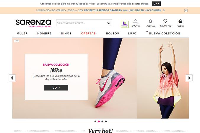 tiendas de zapatos online sarenza