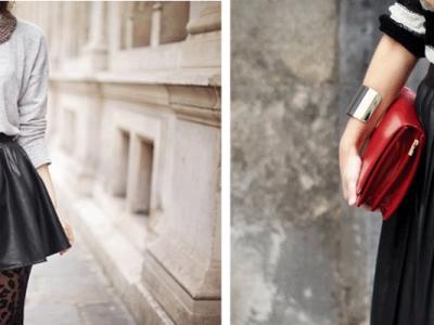 ¿Cómo combinar una falda de cuero?