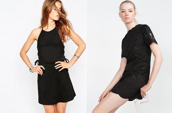 vestidos de ante negros