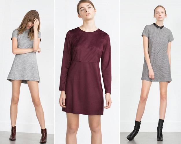 Mini vestido gris