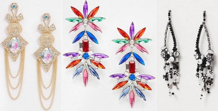 pendientes color accesorios
