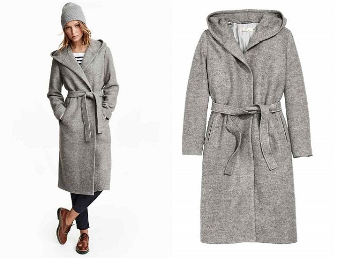 H&M gris abrigos largos