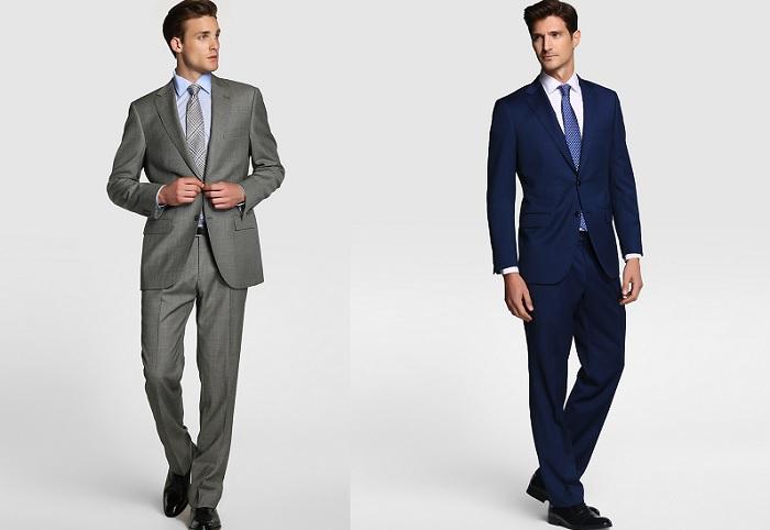 Trajes para entrevistas, negocios y reuniones: los trajes ideales para este tipo de eventos pueden variar, nosotros te recomendamos que elijas un traje en tono azul marino o gris oscuro, ya que son ideales para cualquier hora del día.