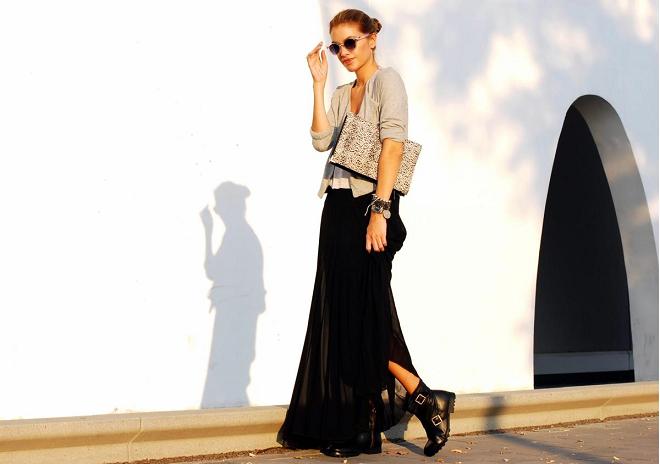Cómo combinar faldas largas - Mucha más Moda  5ae74442f84d