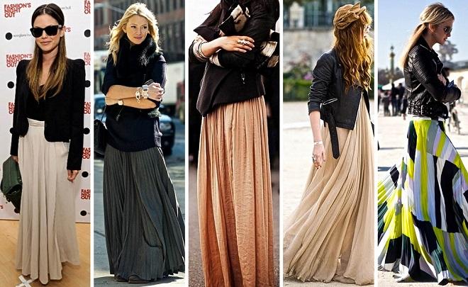 cómo combinar faldas largas (2)