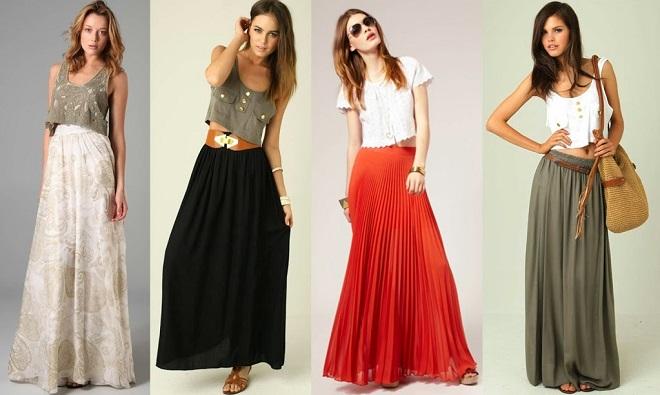 cómo combinar faldas largas (3)