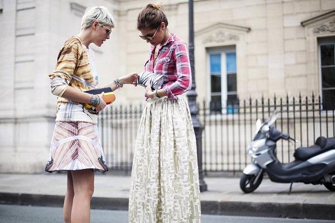 cómo combinar faldas largas (5)