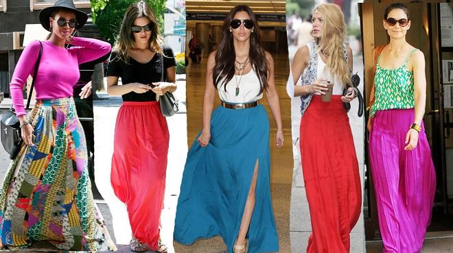 fd3743257e Cómo combinar faldas largas - Mucha más Moda