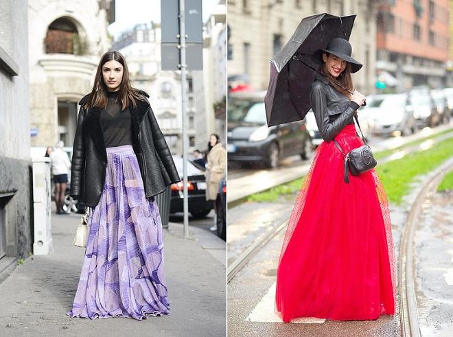 cómo combinar faldas largas (9)