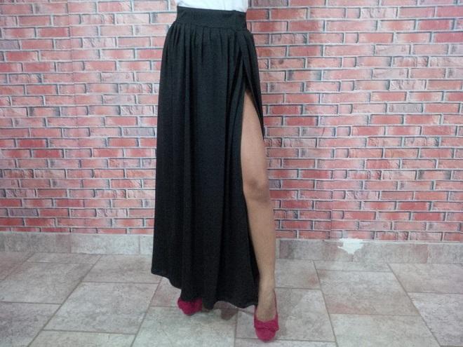 ad4669d8f Cómo hacer una falda larga - Mucha más Moda | Mucha más Moda