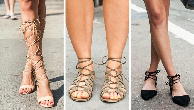 Cómo amarrar sandalias de tiras (2)