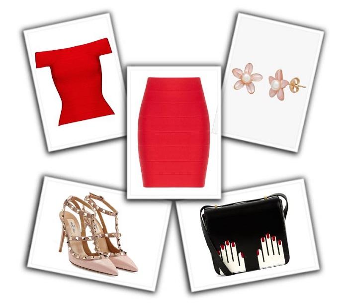 combinar falda roja (4)