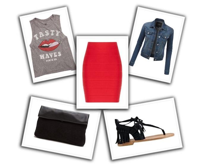 combinar falda roja (5)
