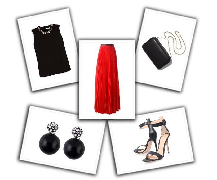 combinar falda roja (7)