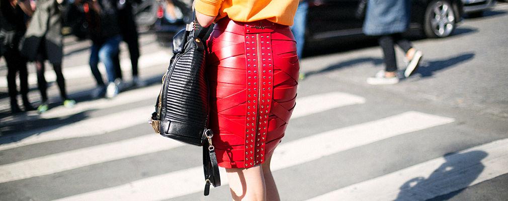 falda roja portada