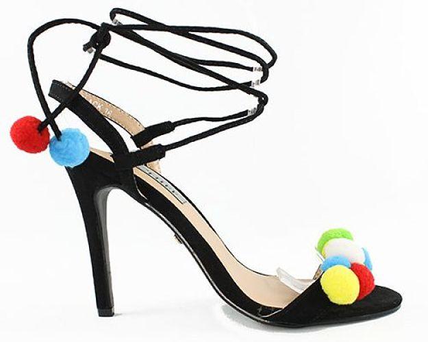 999 sandalias con pompones