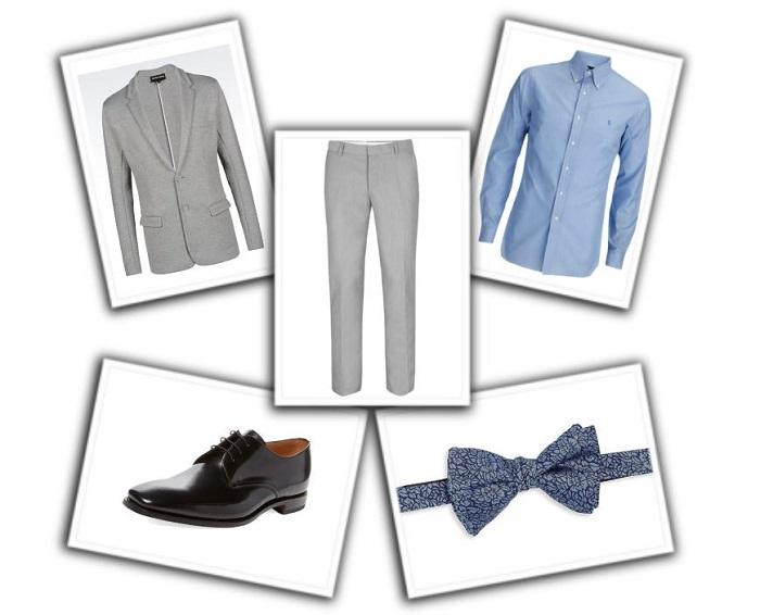 camisa y corbata para traje gris (1)