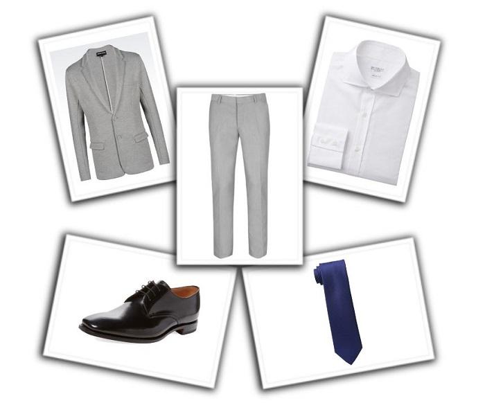 camisa y corbata para traje gris (10)