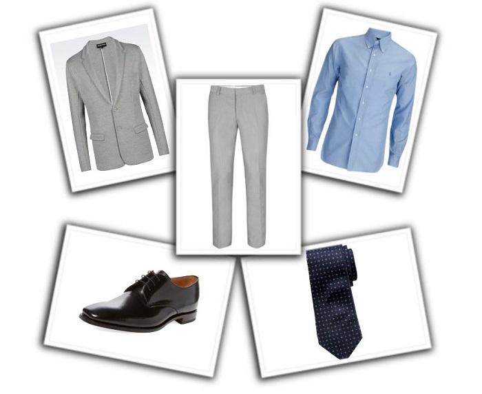 camisa y corbata para traje gris (2)