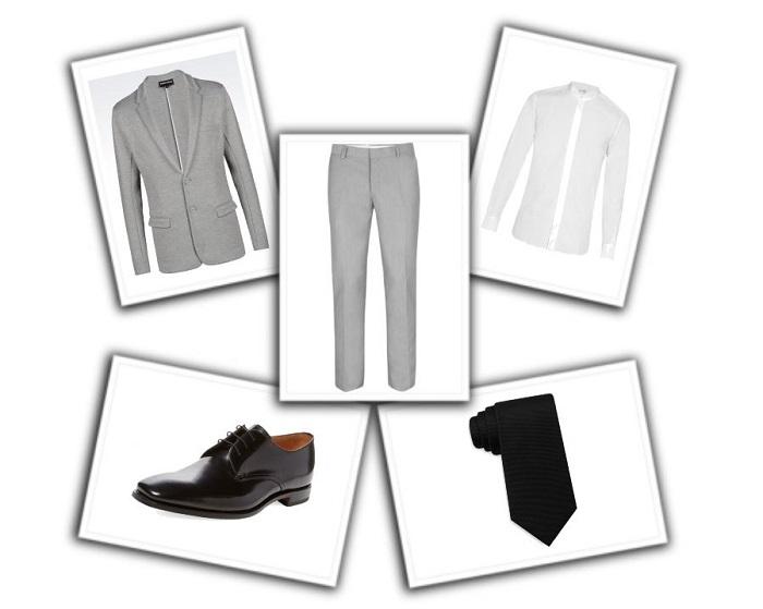 camisa y corbata para traje gris (3)
