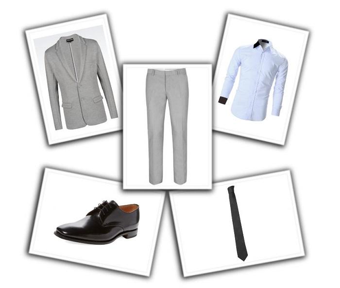camisa y corbata para traje gris (4)