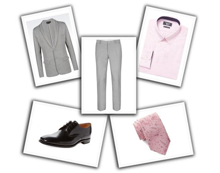 camisa y corbata para traje gris (6)