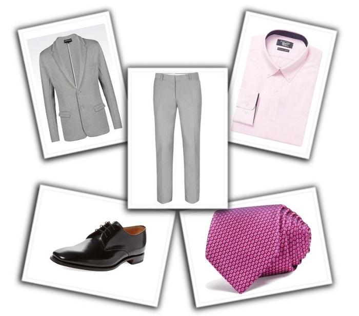 camisa y corbata para traje gris (7)