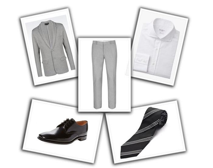camisa y corbata para traje gris (8)