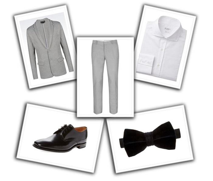 camisa y corbata para traje gris (9)