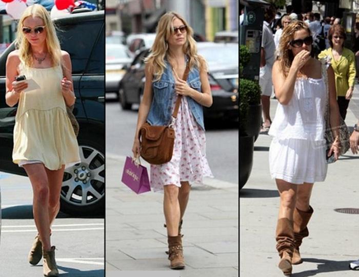 Vestidos con botas de verano
